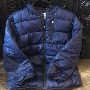 WINTER ❄️ size L 10-12 navy hooded puffer